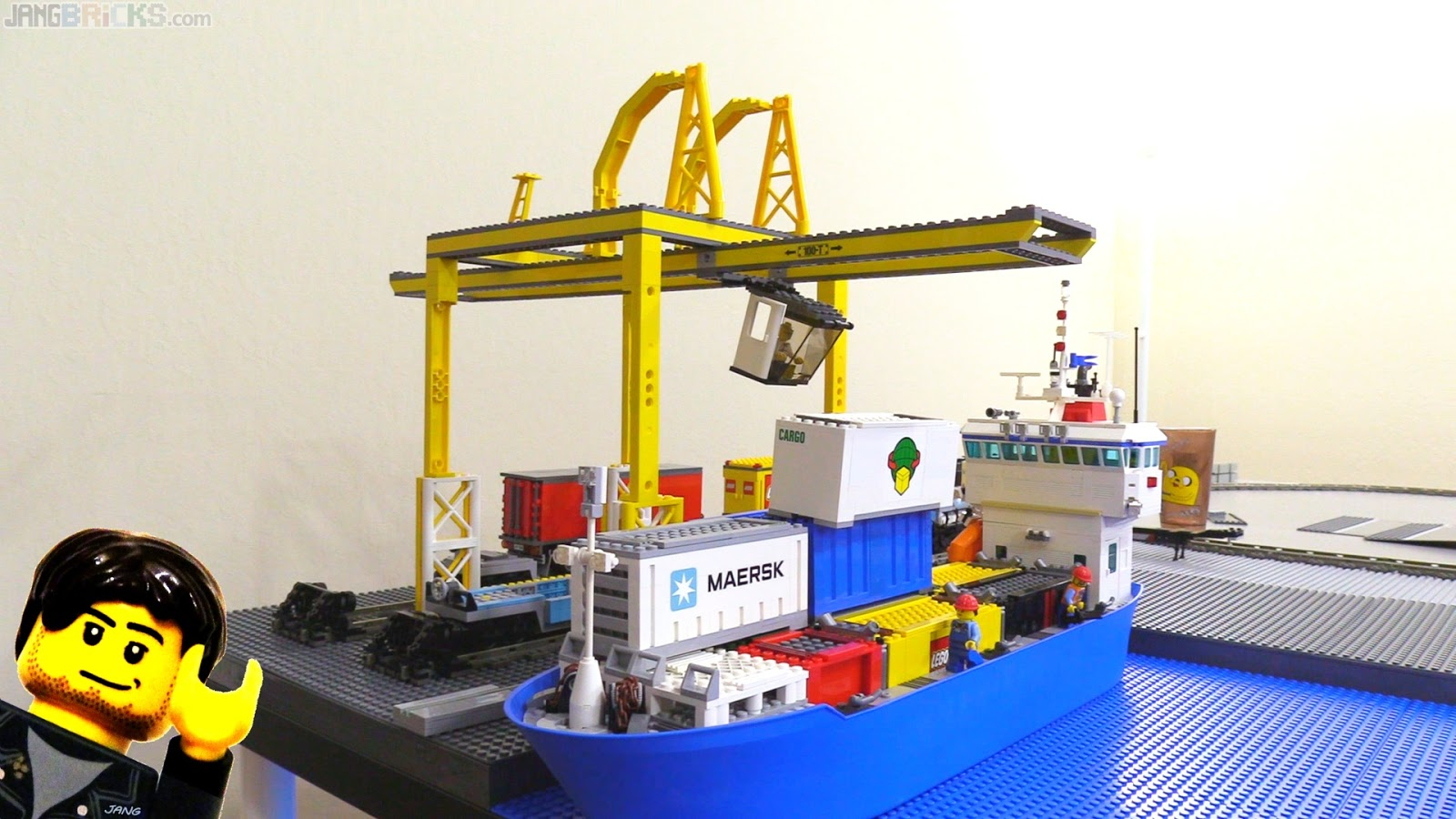 Ksp Gantry Crane : Starting work on my largest cargo port crane