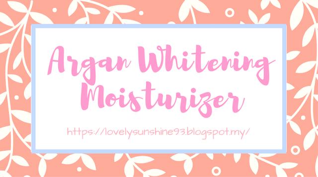 Argan Whitening Moisturizer