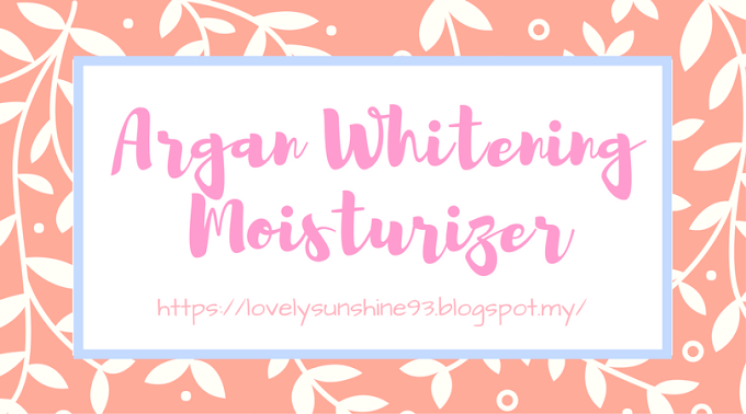 Nurraysa Argan Whitening Moisturizer