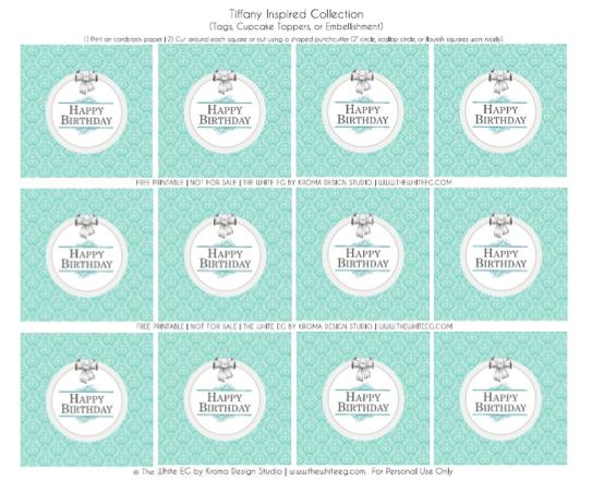 Free Printables ~ Kroma Design Studio | Today's Party Ideas
