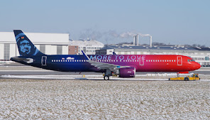 "A321N Alaska Air, ""more to love"" cs"