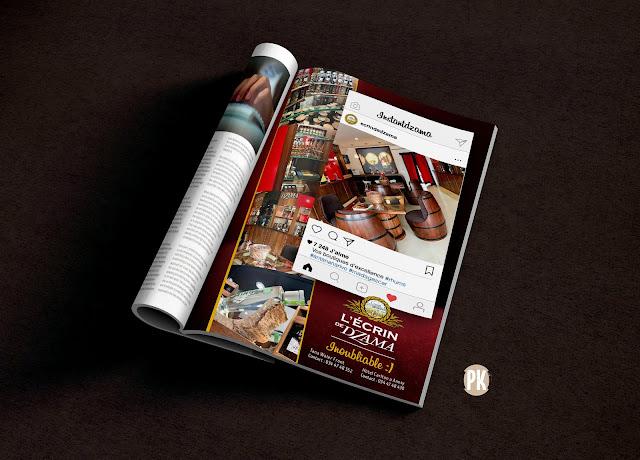 création page presse pour la boutique Écrin de Dzama