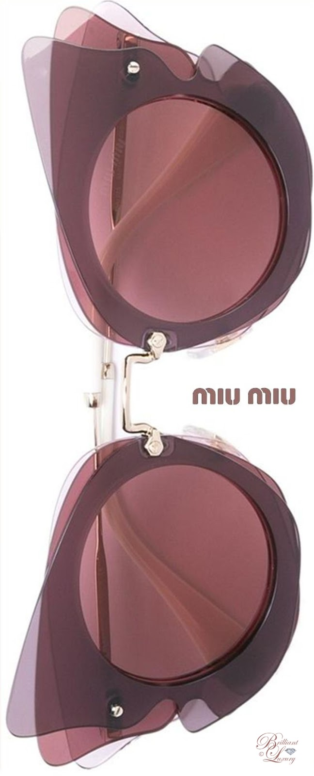 Brilliant Luxury ♦ Miu Miu Eyewear Oversized Sunglasses