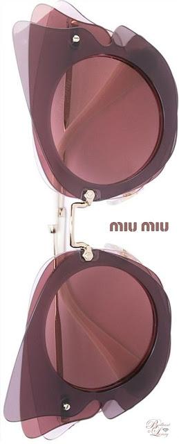 Brilliant Luxury ♦ Miu Miu Eyewear Oversized Sunglasses