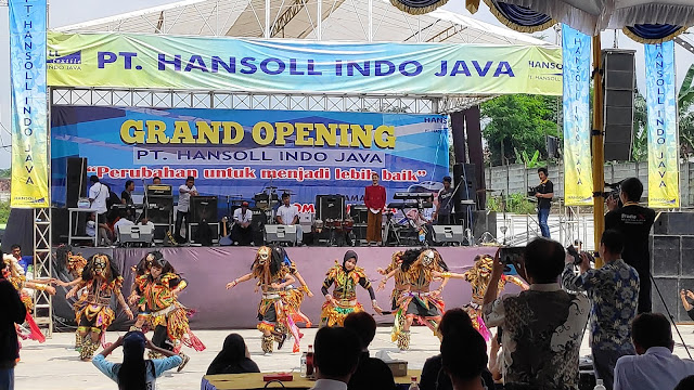 sewa videotron untuk event grand opening peresmian PT. Hansol indo java.