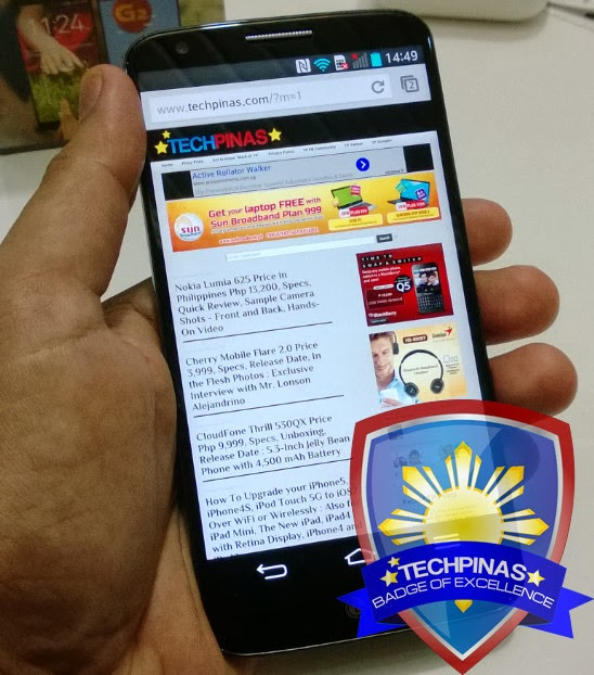 LG G2, TechPinas Badge of Excellence