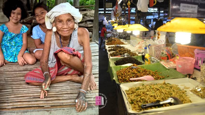 Il Karen village e Kad Thung Kwian Market, il mercato degli insetti