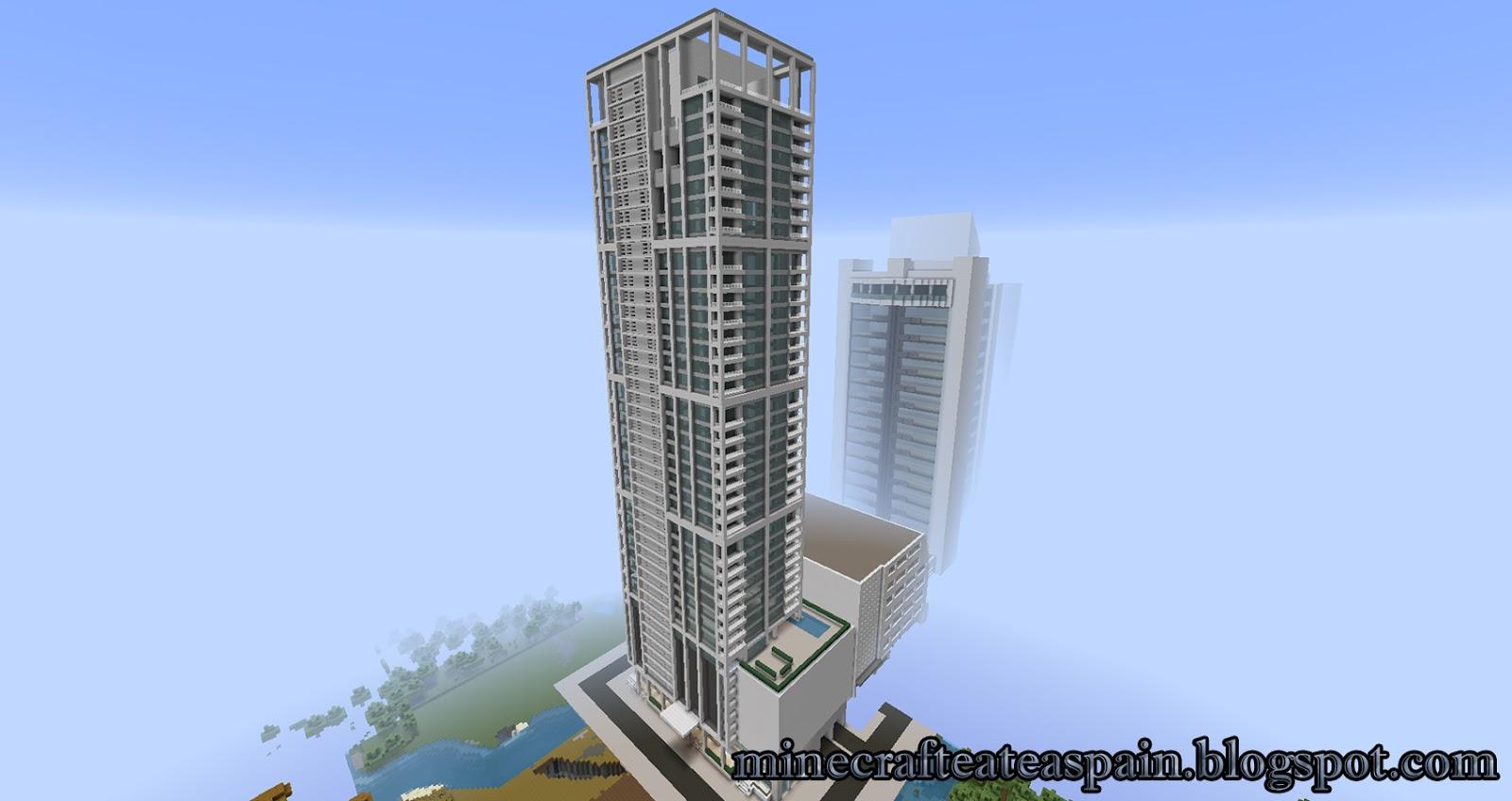 MINECRAFTEATE Rplica Minecraft del rascacielos Ten