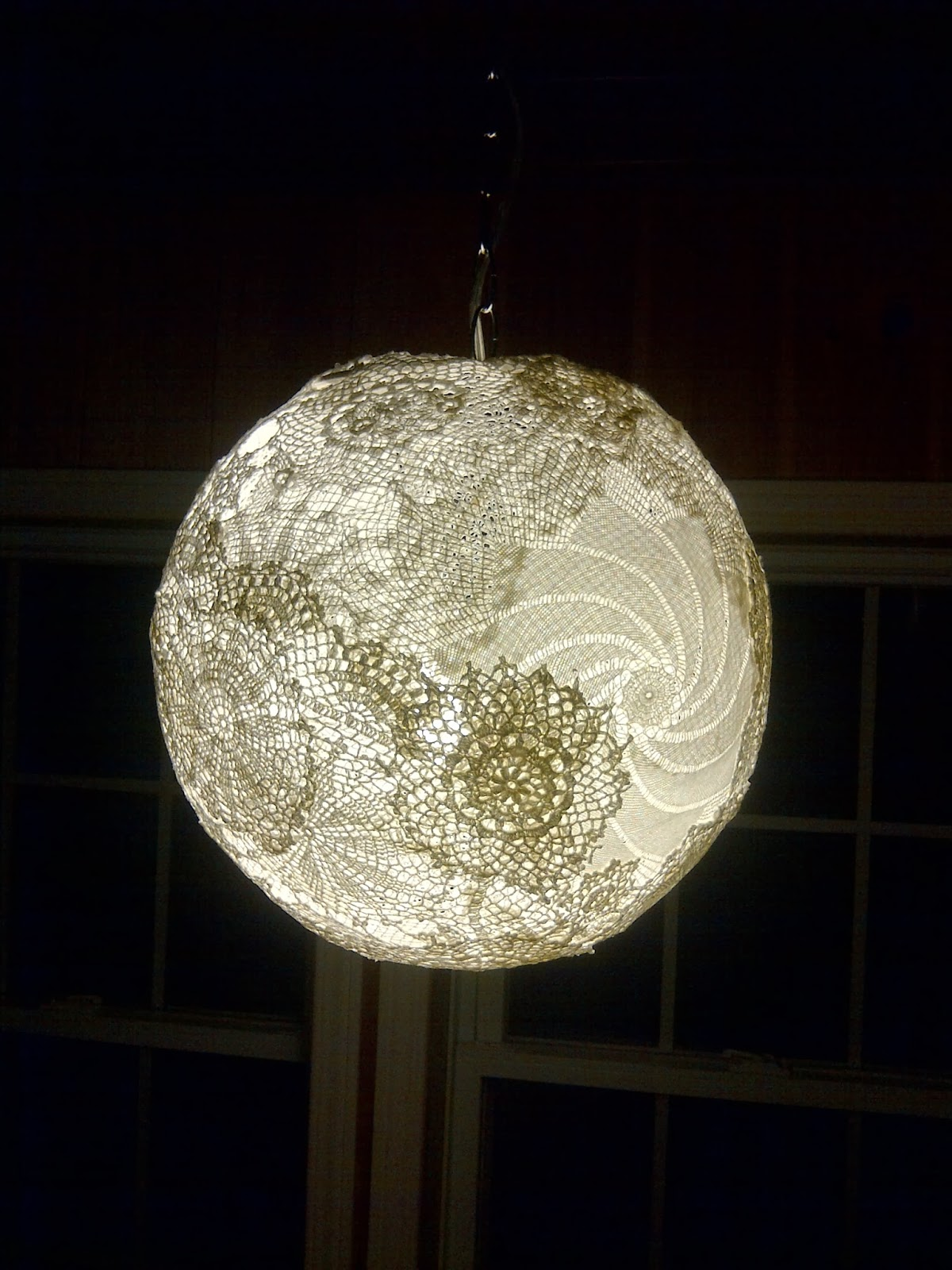 Brick Home Love Diy Hanging Doily Lamp