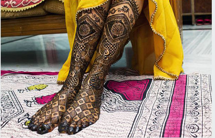 Punjabi Mehndi Designs Feets