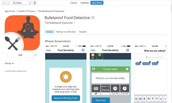 Bulletproof food detective app on itunes