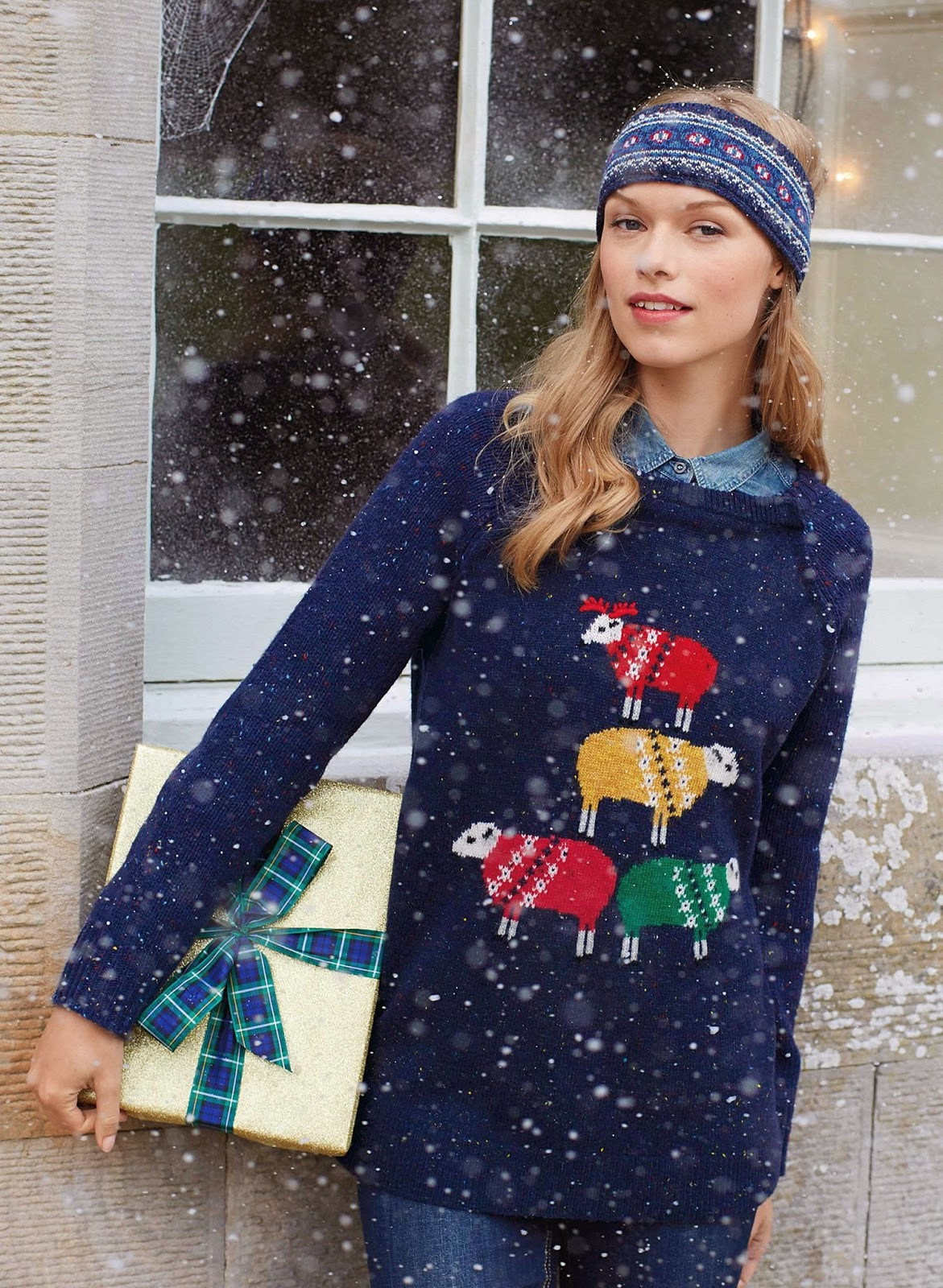 Joules Christmas Sheep Jumper