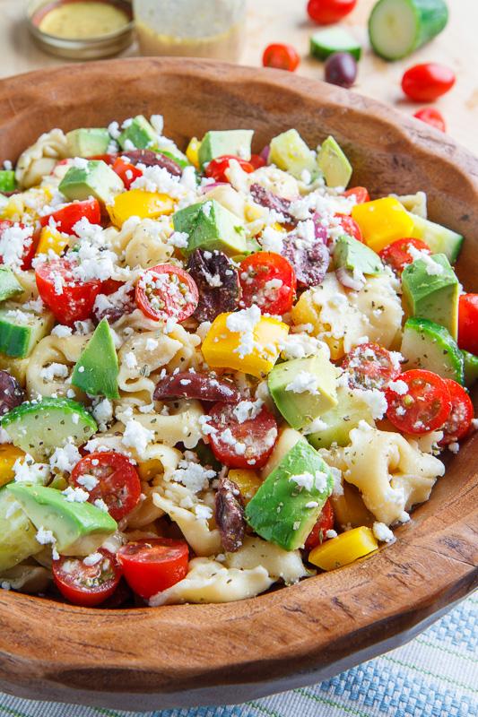 Mediterranean Avocado Tortellini Pasta Salad