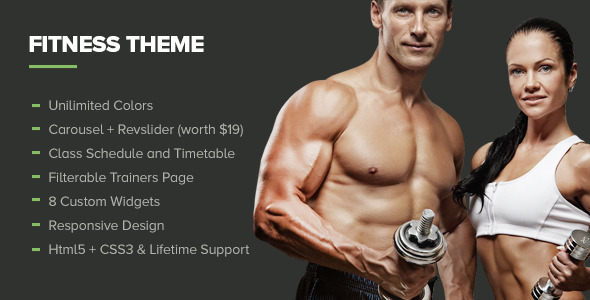 Fitness - Themeforest Premium Gym WordPress Theme