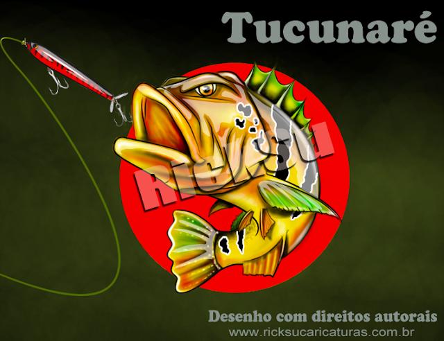 ilustração digital de peixe tucunaré king