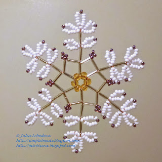 Snowflake of beads and bugles