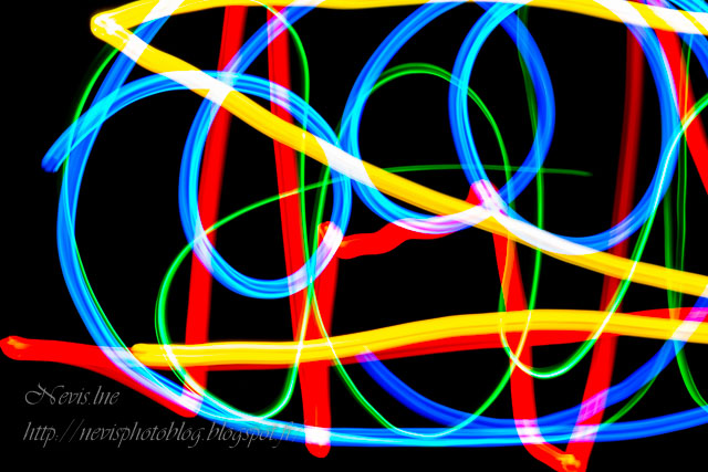light painting coloré