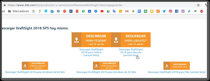 Draftsight CAD Software (programa) para Linux Ubuntu y Fedora
