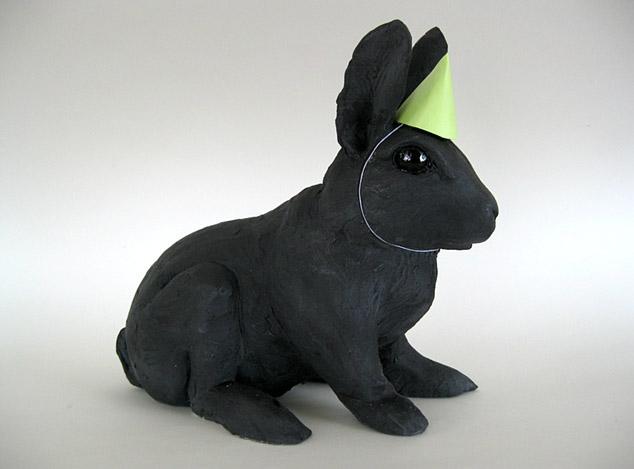 Darla Jackson, bunny in party hat