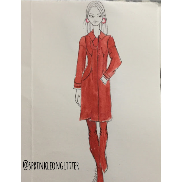 Sprinkle on glitter blog// monochromatic red//boots & coat