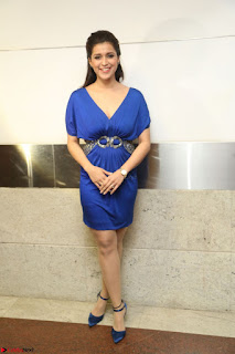 Mannara Chopra in Short Blue Dress at Rogue Movie Teaser Launch 1st March 2017 133.JPG