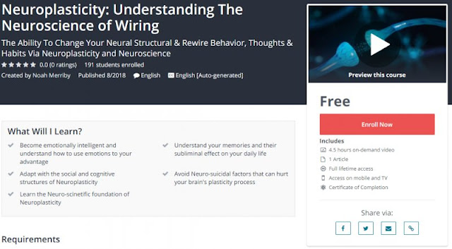 [100% Free] Neuroplasticity: Understanding The Neuroscience of Wiring