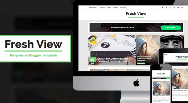 Fresh View responsive Blogger template