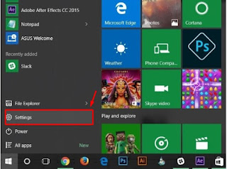 Windows-10-start-menu-to-select-settings