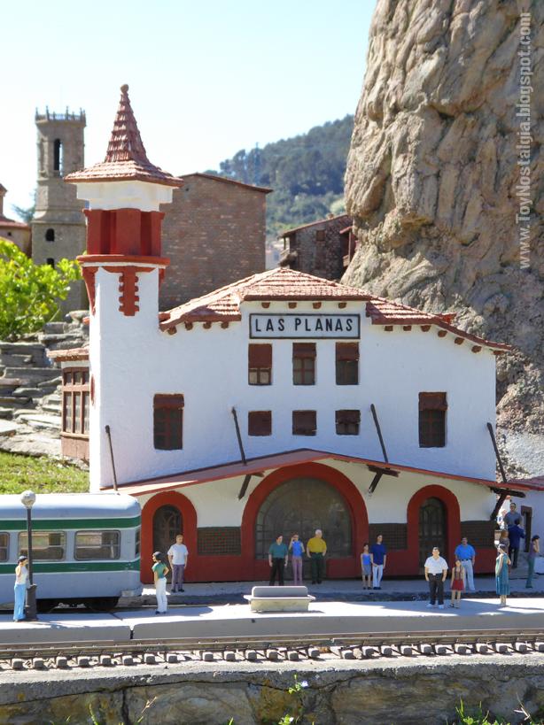 Estación de Las Planas - Línea Barcelona-Vallés FGC Catalunya en Miniatura - Catalonia Miniature