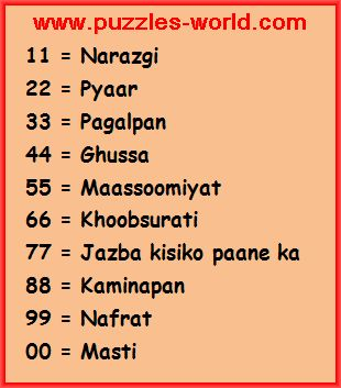 Choose one Number whatsapp Game answers