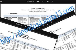 Download Kisi-Kisi Ujian Nasional Tahun 2015-2016 Terbaru