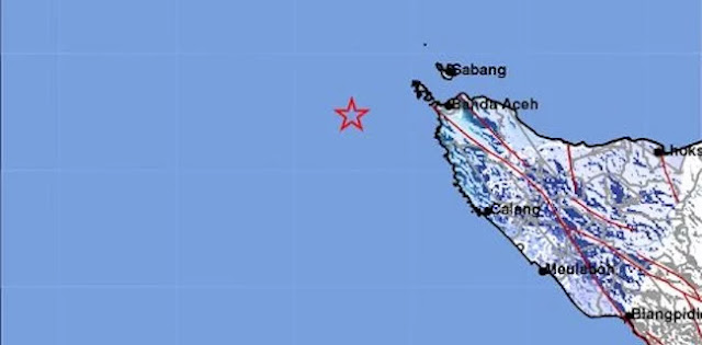 Gempa 5,1 SR Guncang Banda Aceh, Tidak Berpotensi Tsunami