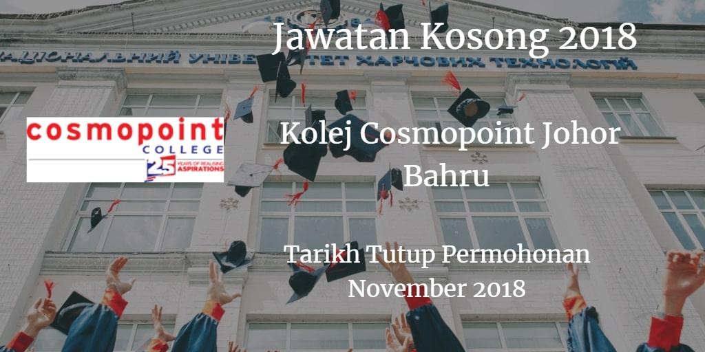 Jawatan Kosong Kolej Cosmopoint November 2018