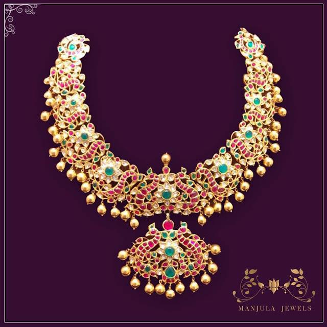 Peacock Kundan Set from Manjula Jewels