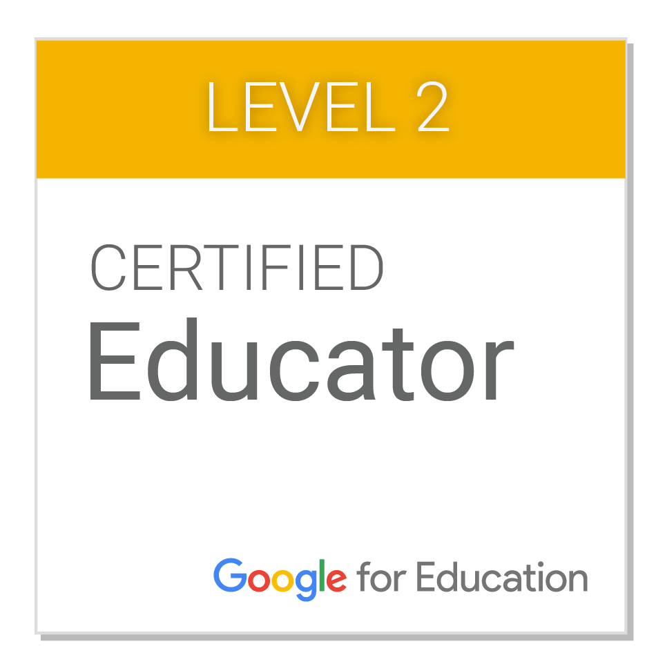 Google Educator Badge Level II