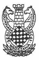 Logo de la Olimpiada de Ajedrez Varsovia 1935