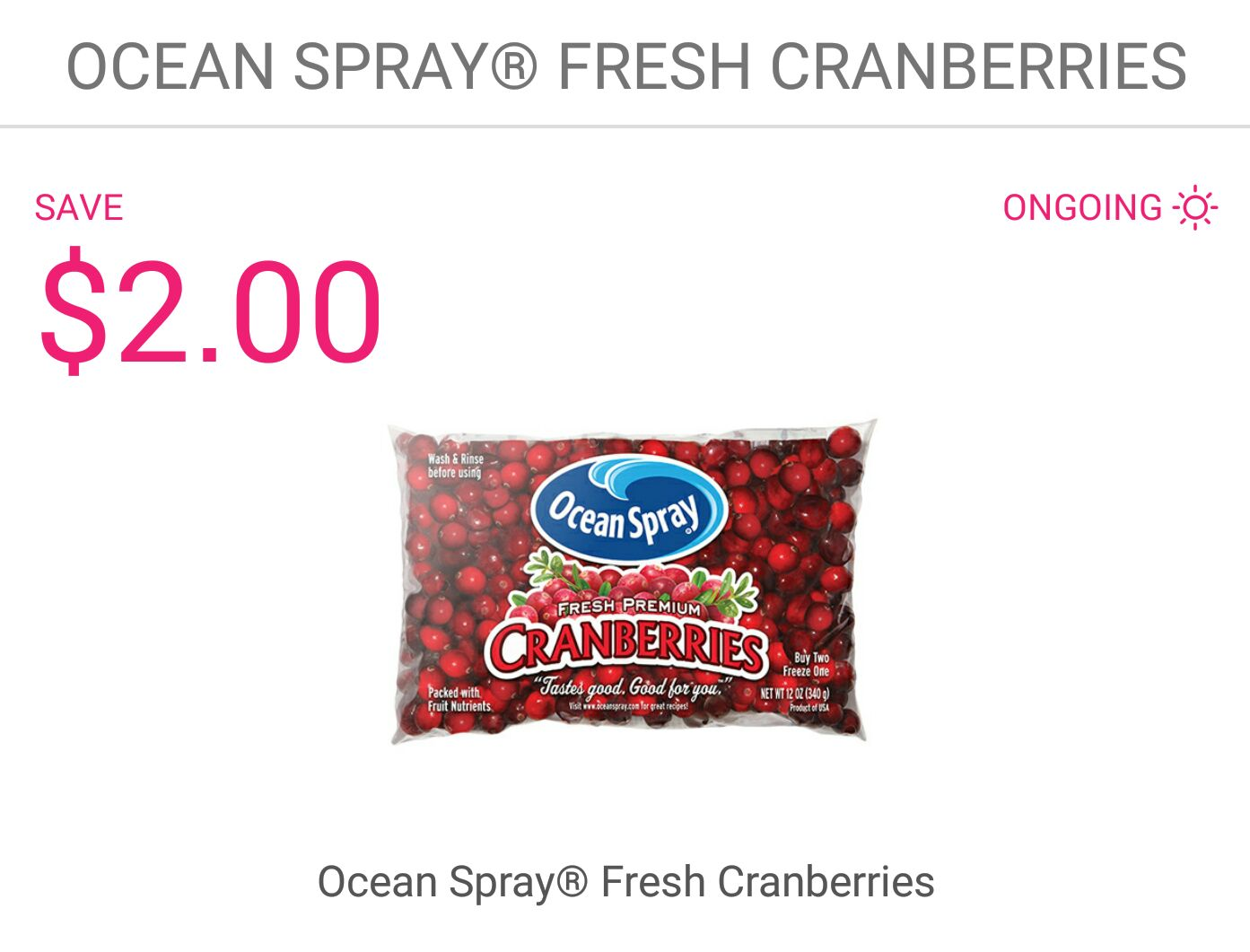 cranberry coupons printable