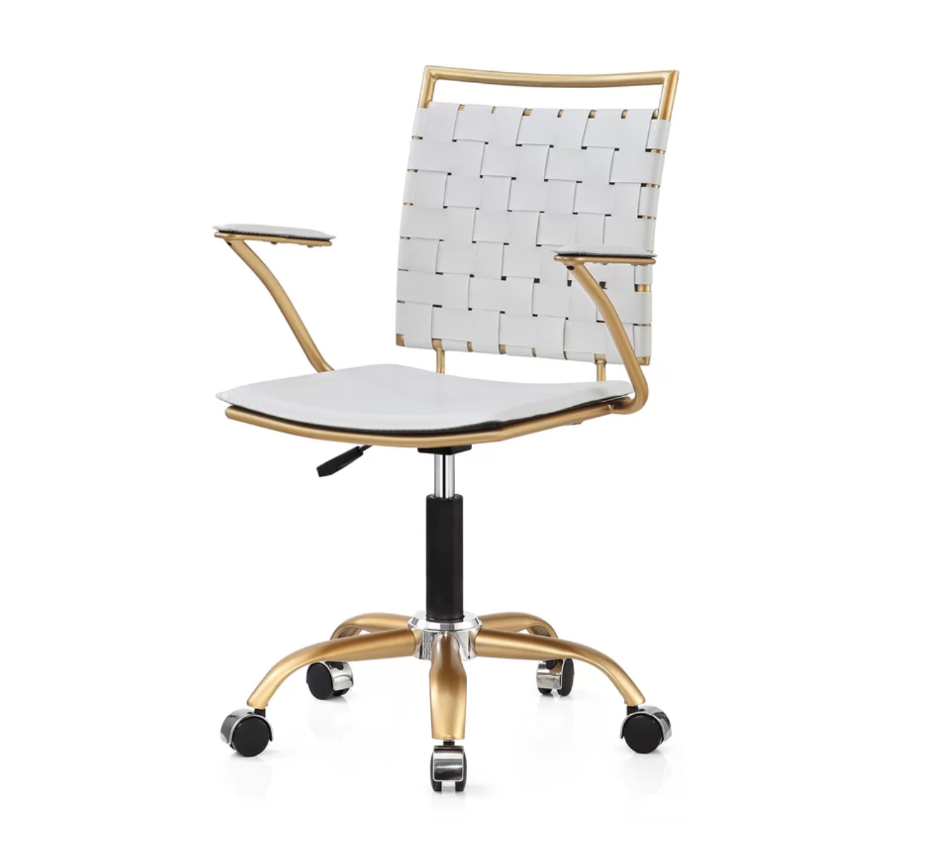 White And Gold Desk Chair Stylecôte Glam White And Gold Office Chair