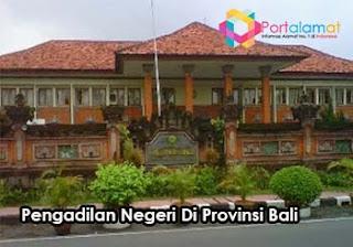 Alamat Pengadilan Negeri Di Bali