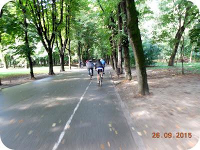 Am pedalat si prin Parcul Romanescu