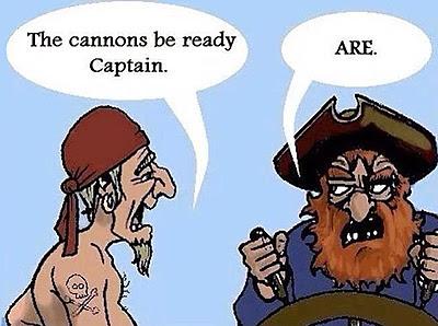 Two pirates arguing