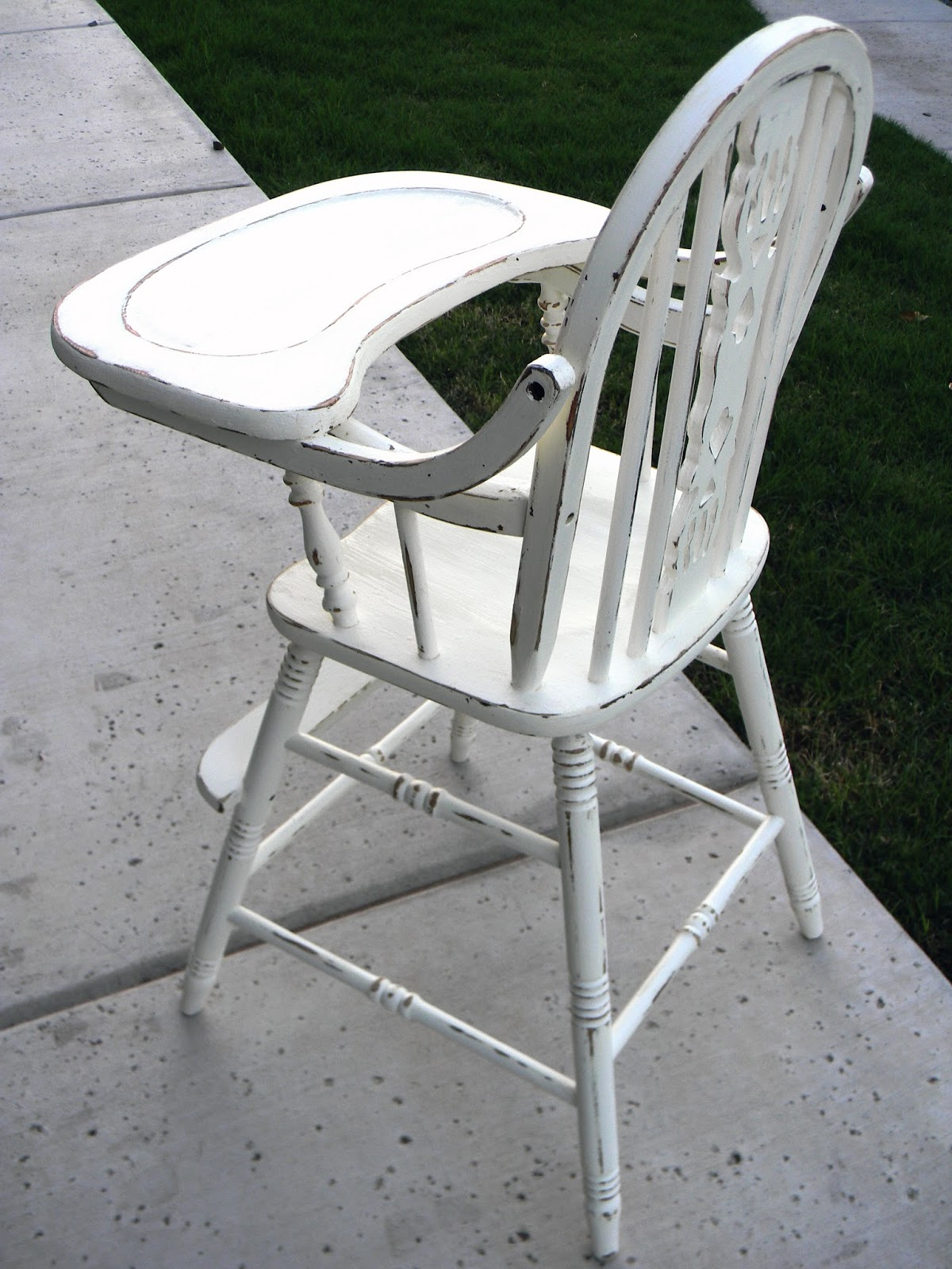 antique high chairs what is the purpose of a geri chair little bit paint refinished
