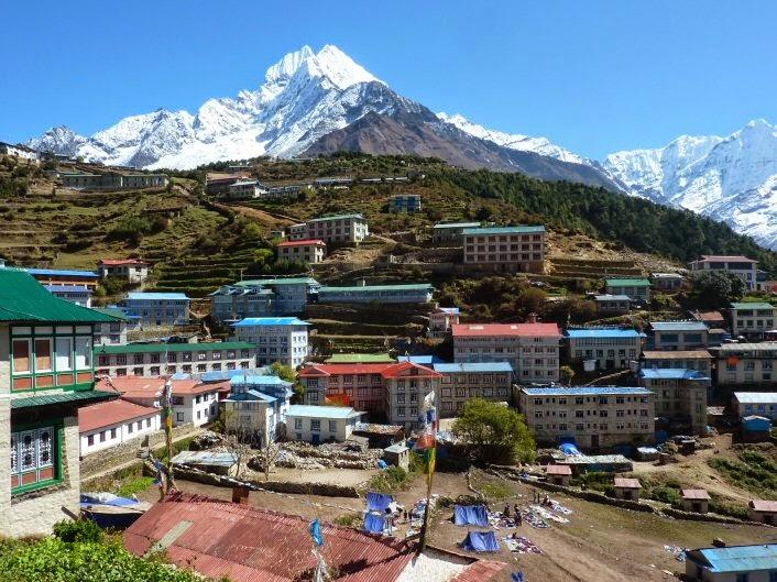 Namche village Everest trekking
