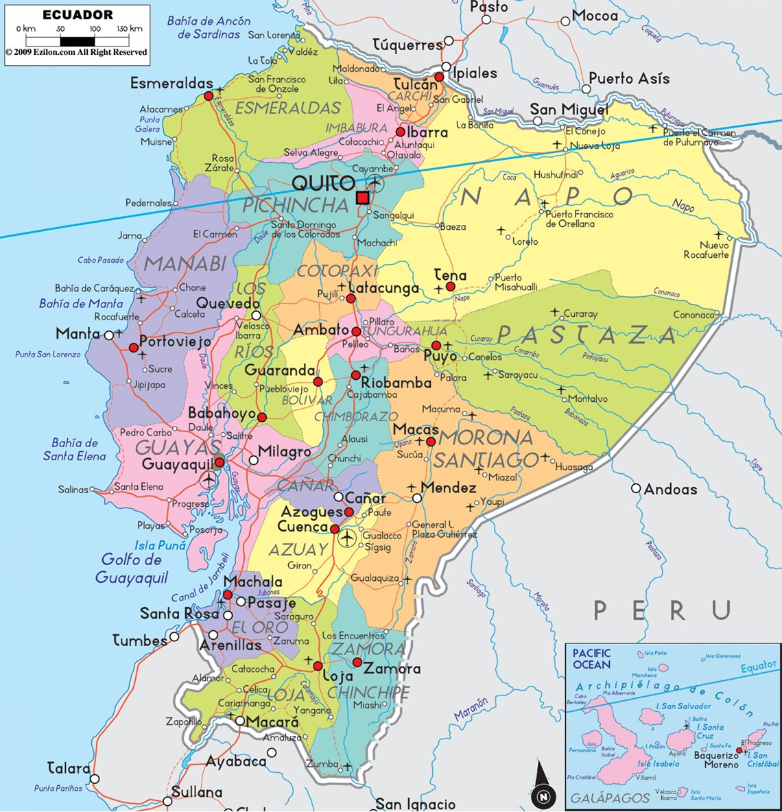 equador mapa Mapas do Equador | MapasBlog equador mapa
