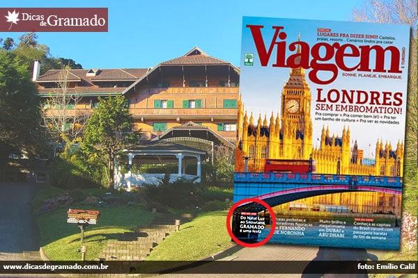 Revista Viagem e Turismo com reportagem sobre Gramado