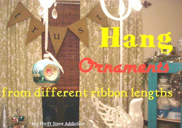DIY ornament chandelier