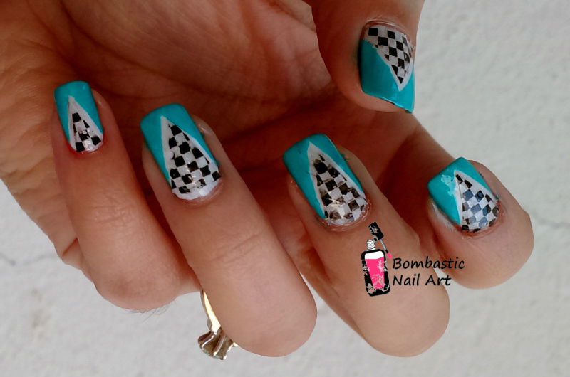 Cool Nail Art With Reverse Stamping Bombastic Nail Art