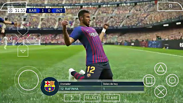 PES 2019 Android Offline 200Mb HD Graphics Camera PS4