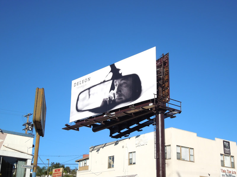 DeLeon Tequila car mirror billboard