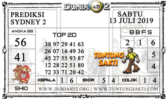 """Prediksi Togel """"SYDNEY 2"""" DUNIA4D2 13 JULI 2019"""